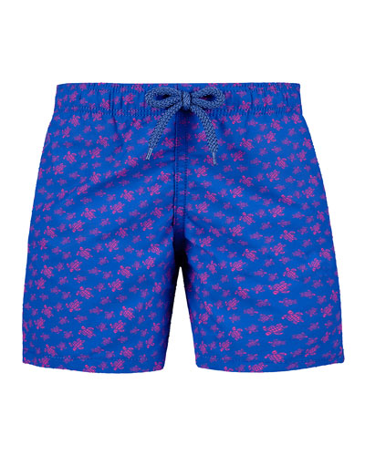 Jim Sea Turtle Print Swim Trunks  Size 2-14
