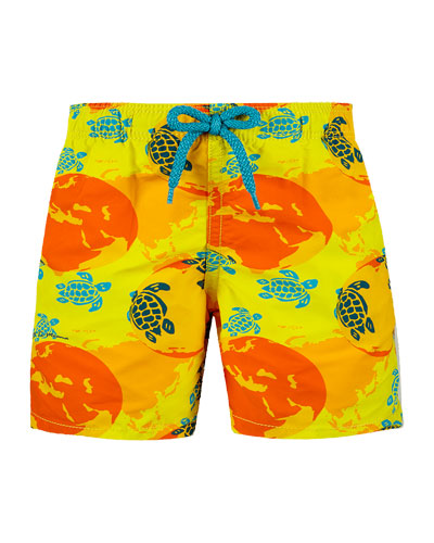 Jim Printed Swim Trunks  Size 2-14