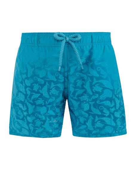 Vilebrequin Jim Sea Creatures Swim Trunks, Size 2-14