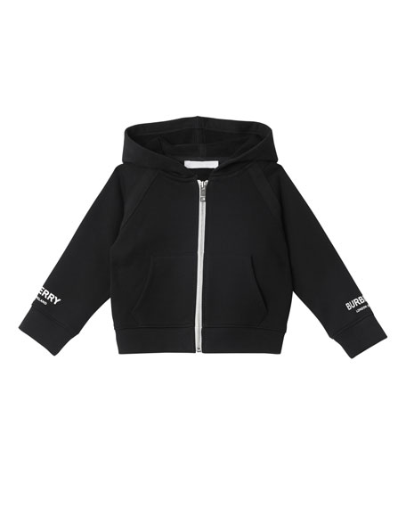 Burberry Corinne Zip-Up Hoodie w/ Logo Detail, Size 12M-2