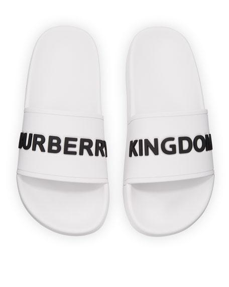 Burberry Furley Logo Pool Slide Sandals, Toddler/Kids