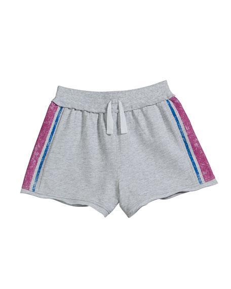 Splendid French Terry Side Stripe Shorts, Size 7-14
