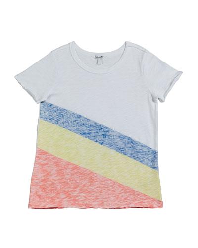 Sunrise Stripe Slub Jersey Top  Size 7-14