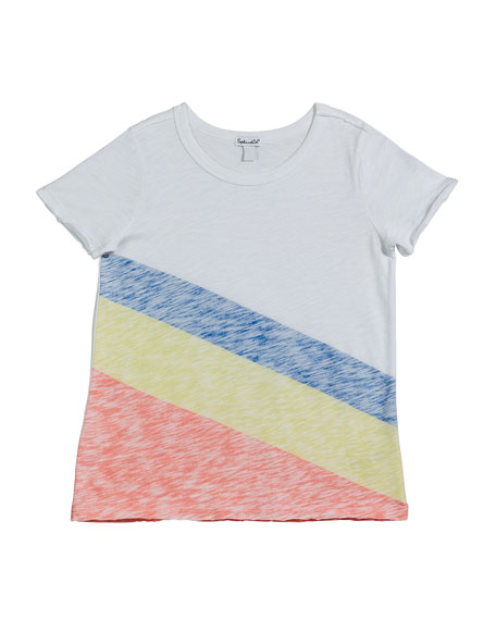 Splendid Sunrise Stripe Slub Jersey Top, Size 7-14