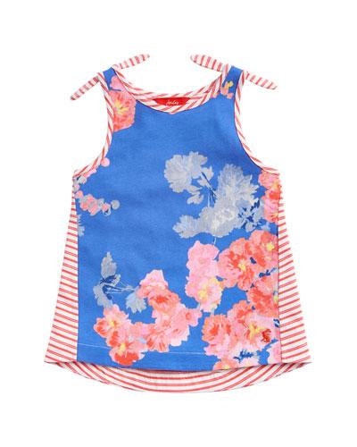 Iris Floral & Striped Tank Top  Size 3-10