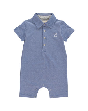 c5a6915b8 Me & Henry Pique Knit Polo Shortall w/ Children's Book, Size 0-24