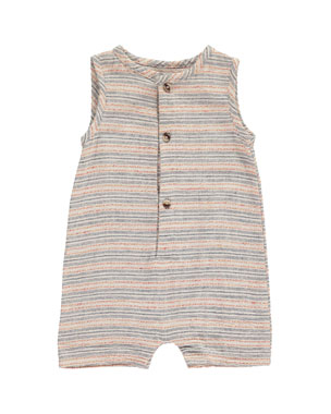 2dc019d12 Me & Henry Striped Woven Playsuit w/ Children's Book, Size 0-24 Months
