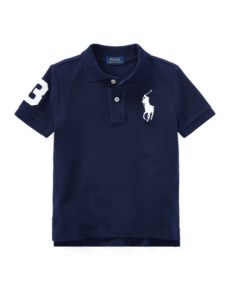 Ralph Lauren Childrenswear Big Pony Pique Knit Polo, Size 2-3