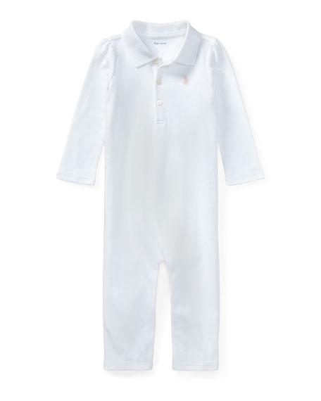 Ralph Lauren Childrenswear Interlock Polo Coverall, Size 3-12 Months