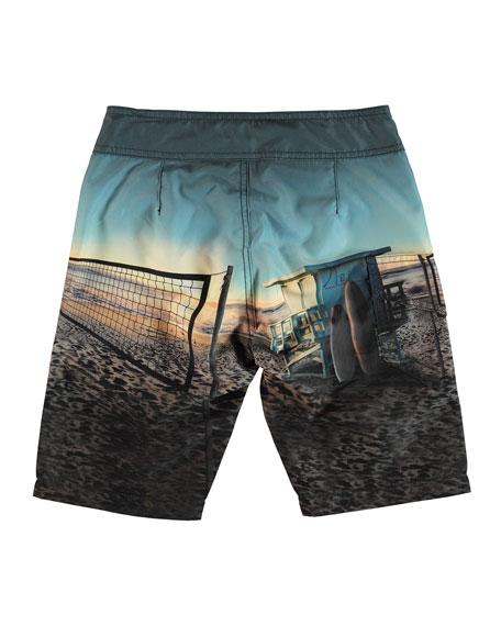 Molo Nalvaro Beach Print Board Shorts, Size 2T-12