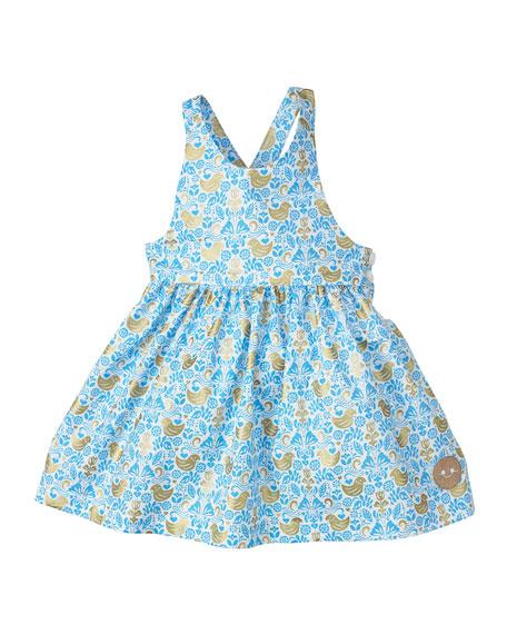 Smiling Button Golden Chickadee Sleeveless Dress, Size 7-10
