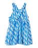 Smiling Button Sea Horse Print Sleeveless Dress, Size 18M-6