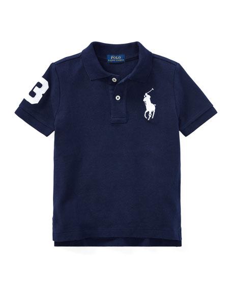 Ralph Lauren Childrenswear Big Pony Pique Knit Polo, Size 4-7