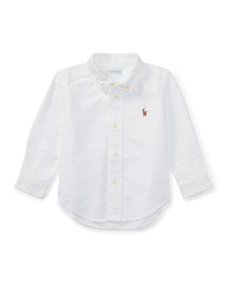 Ralph Lauren Childrenswear Oxford Chambray Shirt, Size 9-24 Months