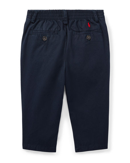 Ralph Lauren Childrenswear Suffield Straight-Leg Cotton Pants, Size 9-24 Months
