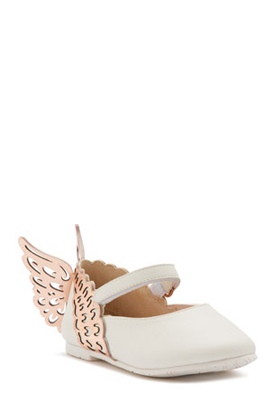 Sophia Webster Evangeline Leather Butterfly-Wing Flats, Baby/Toddler