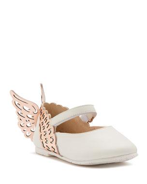 e8901896773 Sophia Webster Evangeline Leather Butterfly-Wing Flats