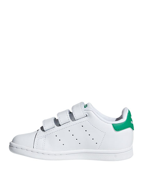 Image 2 of 4: Adidas Kids' Stan Smith Classic Grip-Strap Sneakers, Baby/Toddler