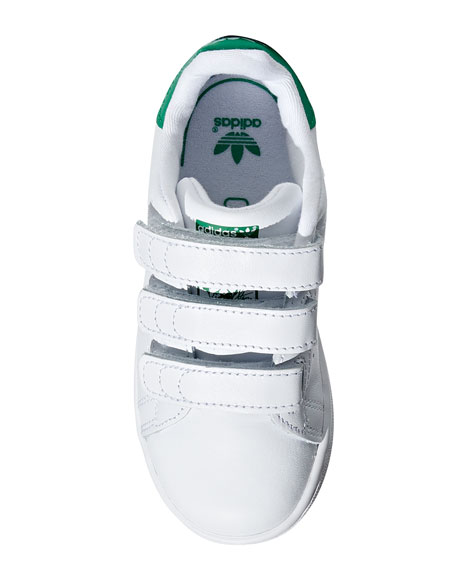 Image 3 of 4: Adidas Kids' Stan Smith Classic Grip-Strap Sneakers, Baby/Toddler