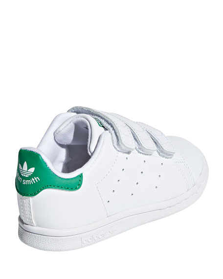 Image 4 of 4: Adidas Kids' Stan Smith Classic Grip-Strap Sneakers, Baby/Toddler