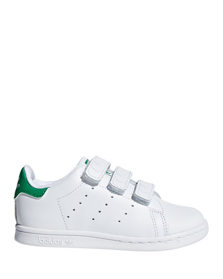Image 1 of 4: Adidas Kids' Stan Smith Classic Grip-Strap Sneakers, Baby/Toddler