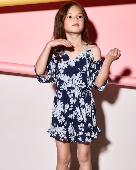 Bardot Junior Calla Lily Frill Romper, Size 8-16