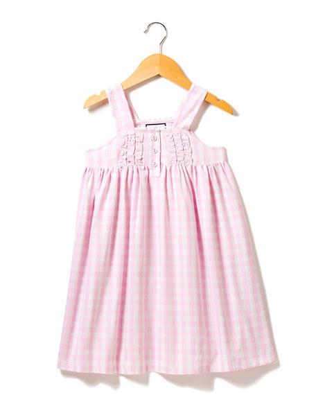 Petite Plume Charlotte Gingham Nightgown, Size 6M-14
