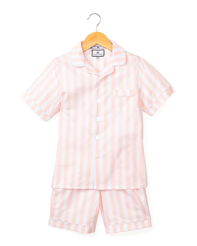Modern Striped Pajama Set w/ Contrast Piping  Size 6M-14