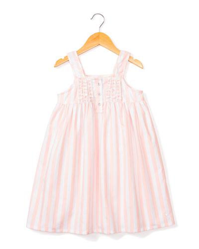 Charlotte Modern Stripe Nightgown  Size 6M-14