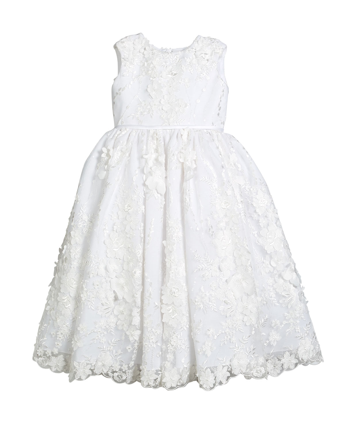 f6e4fe7fed8 Joan Calabrese Sequin   Lace Over Tulle Dress