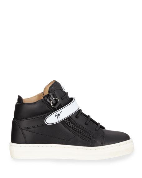 1814f62fbd62b Image 2 of 3: Giuseppe Zanotti London Leather Grip-Strap High-Top Sneakers