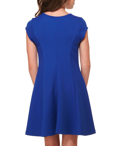 Sally Miller The Allie Textured Knit Short-Sleeve Dress, Size S-XL
