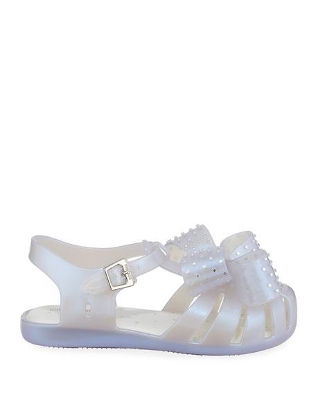 Mini Melissa Mini Aranha XIII Bow Cutout Sandal, Baby/Toddler/Kids