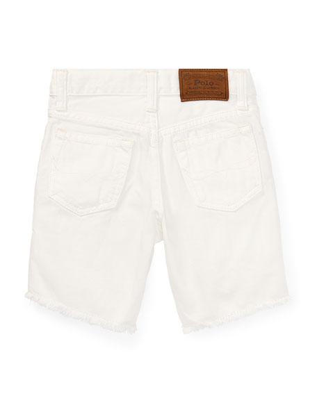 Ralph Lauren Childrenswear Raw Edge Denim Shorts, Size 2-4