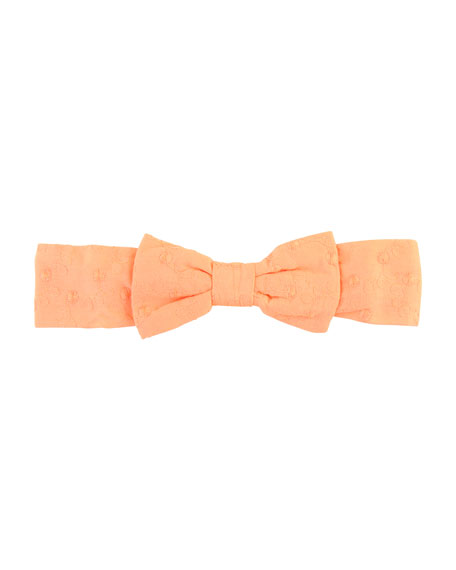 RuffleButts Swiss Dot Romper w/ Bow Headband, Size 0-24 Months
