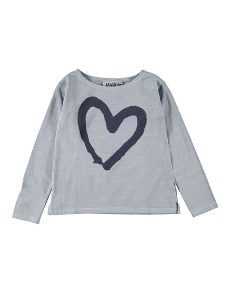 Molo Ramilah Heart Graphic Long-Sleeve Tee, Size 4-16