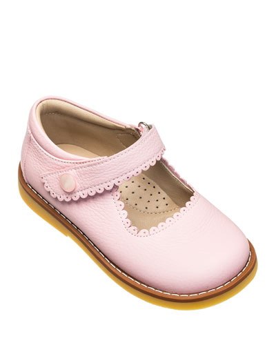 Scalloped Leather Mary Jane  Toddler/Kids