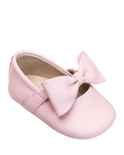 Leather Ballet Flat w/ Bow  Baby
