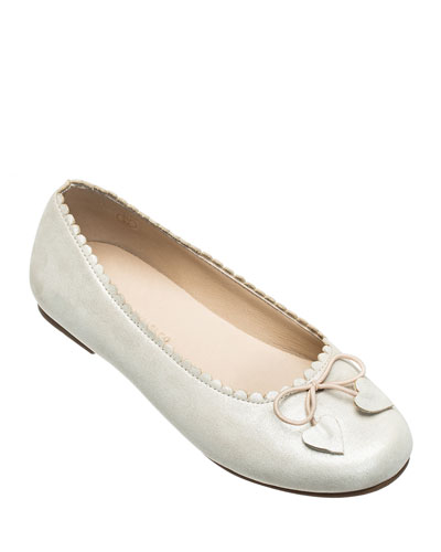 Scalloped Leather Ballet Flats  Toddler/Kids
