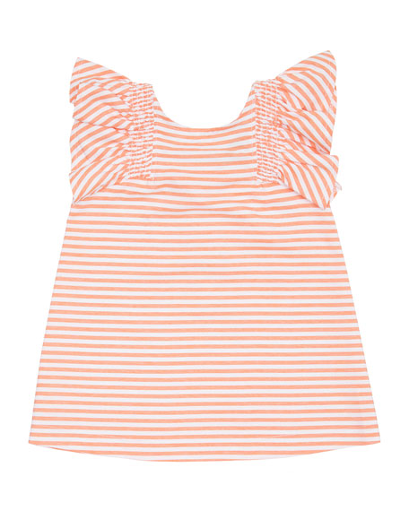 Habitual Aelicia Stripe Ruffle Dress, Size 2-4T