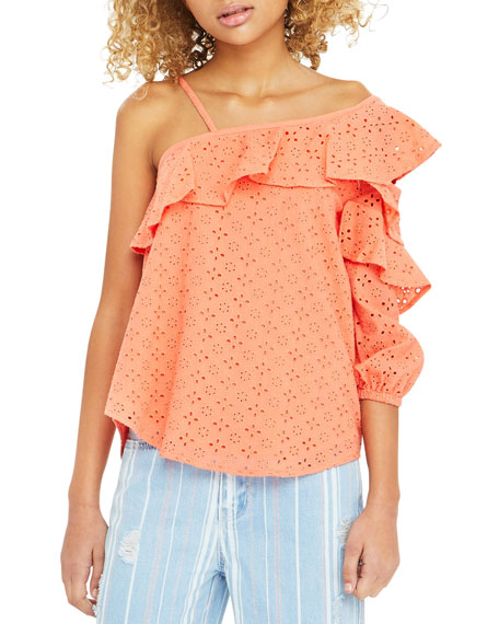 Habitual Cherie Eyelet Ruffled Top, Size 7-14