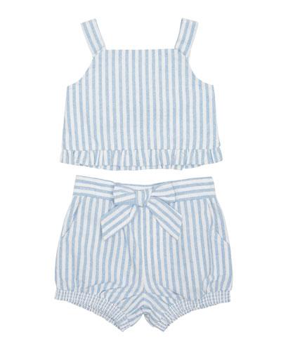 Luciana Stripe Sleeveless Top w/ Matching Shorts  Size 2-4T