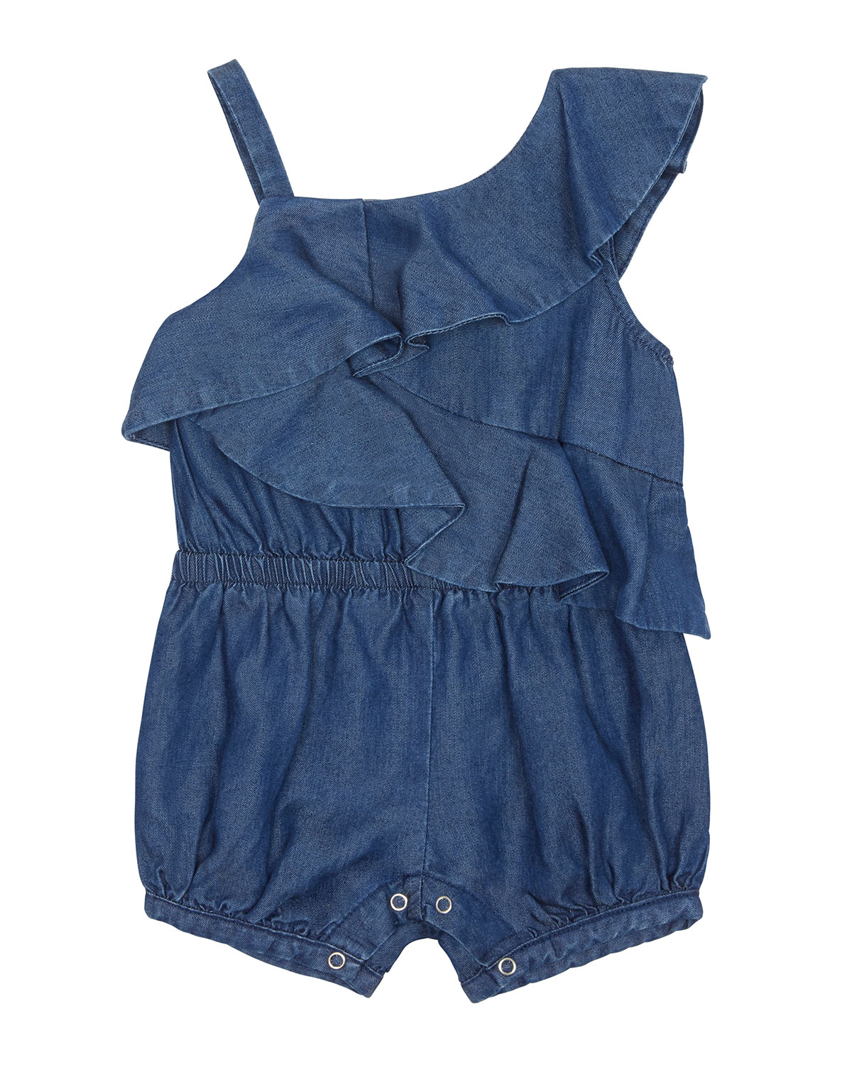 Antonella Chambray One Shoulder Romper, Size 12 24 Months by Habitual