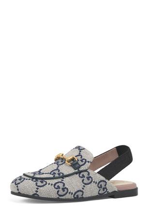 d71987565 Gucci Princetown GG Canvas Horsebit Mule Slides, Toddler