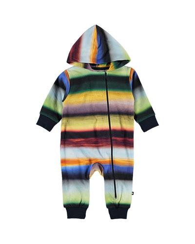 Fowo Rings of Saturn Print Hooded Coverall  Size 3-24 Months