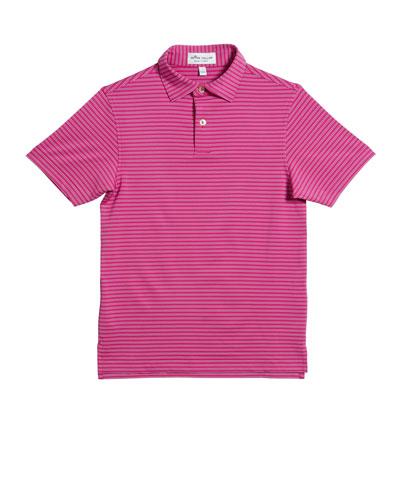 Boy's Stretch Stripe Polo Shirt  Size XS-XL