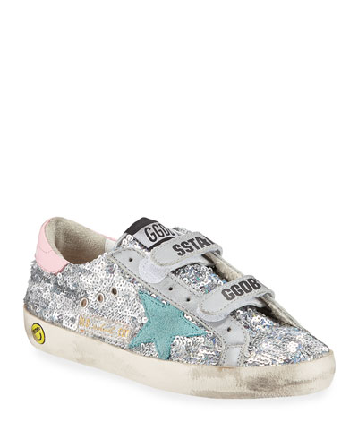 Girl's Old School Paillettes Sneakers  Toddler/Kids