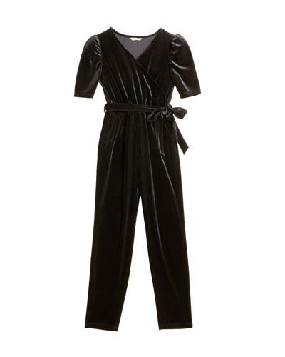 Briella Velour Wrap Jumpsuit  Size 7-14