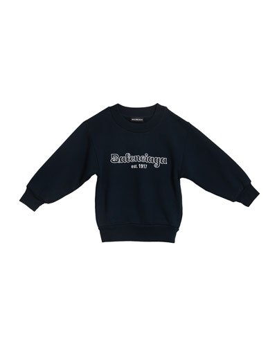 Kid's Logo Embroidered Sweatshirt  Size 2-10