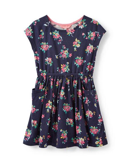 Joules Jude Stripe & Floral Short-Sleeve Dress, Size 3-12